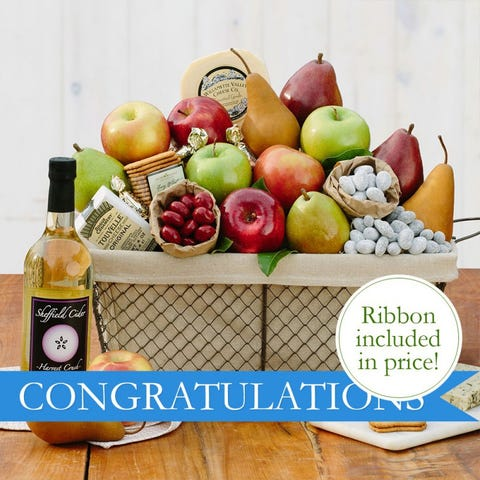 Congratulations Cheese & Fruit Basket