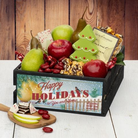 Deck the Halls Gift Crate