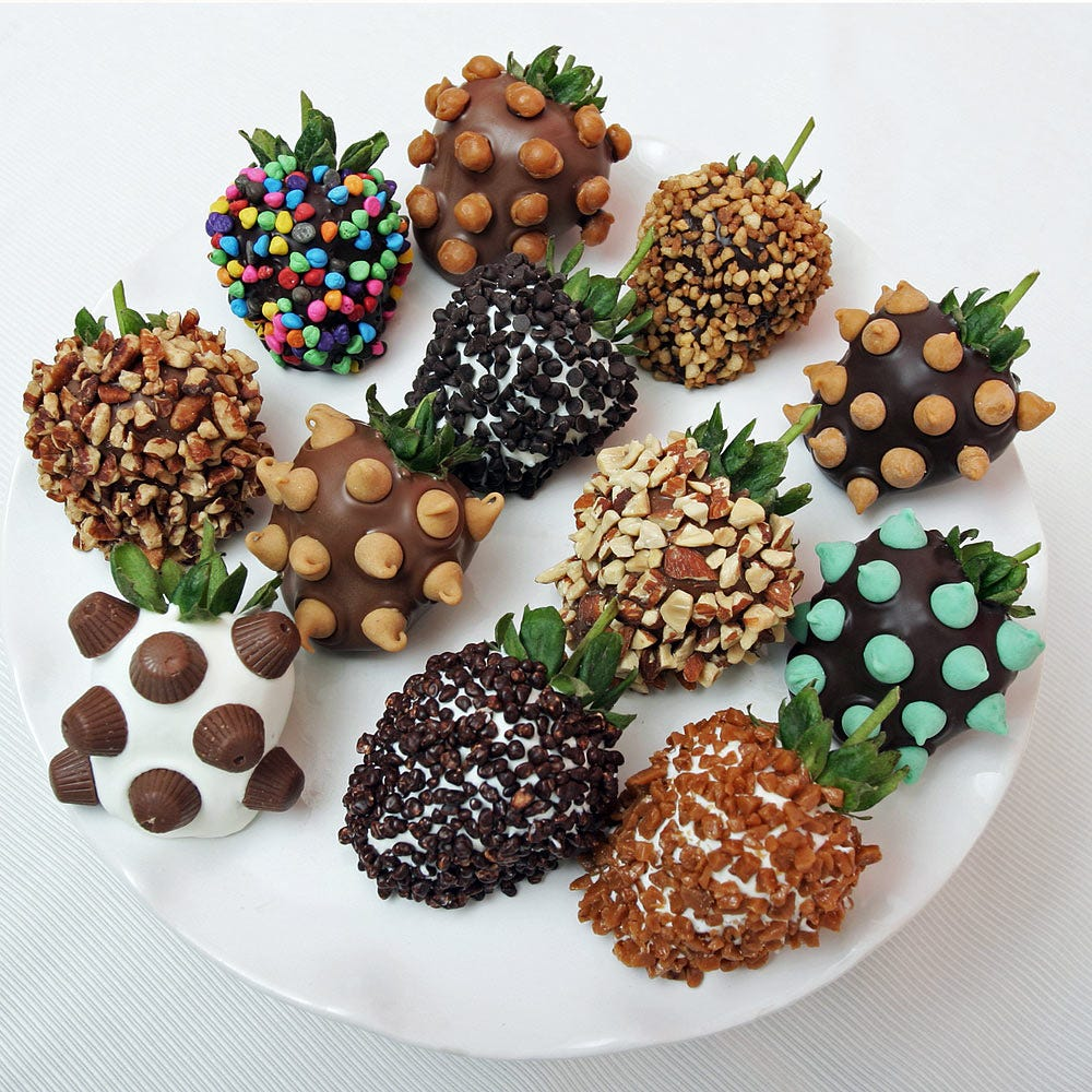 Deluxe Chocolate Dipped Strawberries - 6 pc