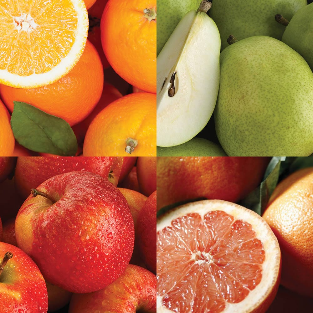 The freshest seasonal organic fruit delivered monthly to your or your recipient: certified organic Pink Lady apples, organic sugar red grapefruit, organic Rainier cherries, organic nectarines and more.