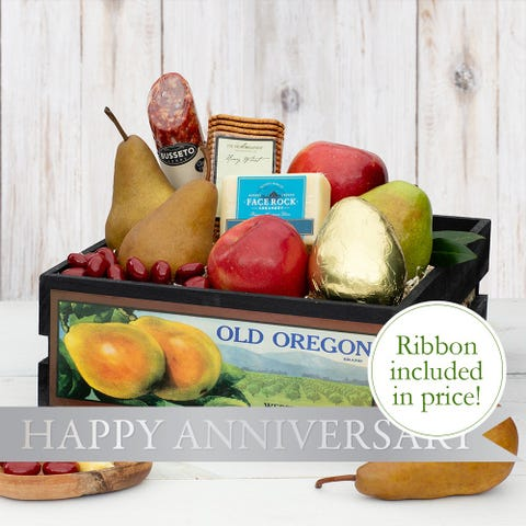 Timeless Anniversary Fruit Crate
