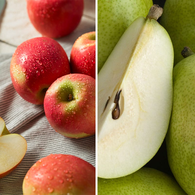 Pink Lady Apples and Green D'Anjou Pears