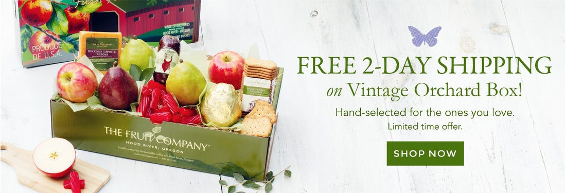 Free 2-Day Shipping on Vintage Orchard Box